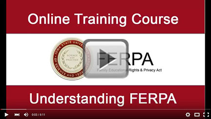 Link to FERPA training video