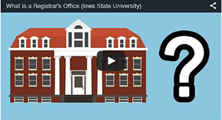 what is the registrar's office video