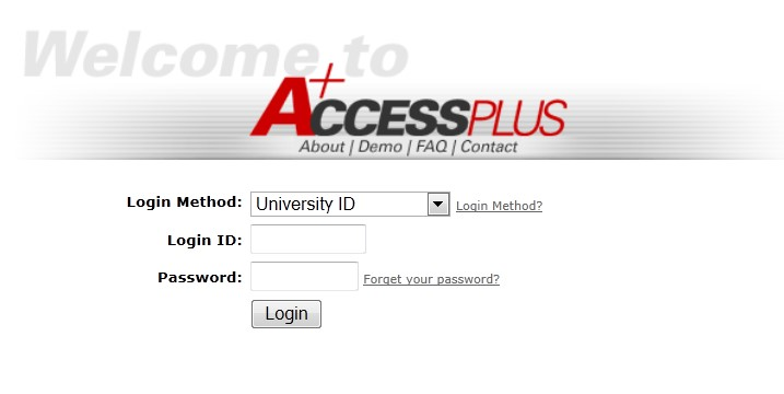 AccessPlus screen