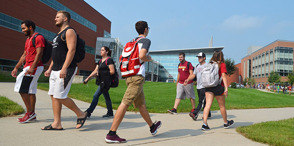 students walking photo